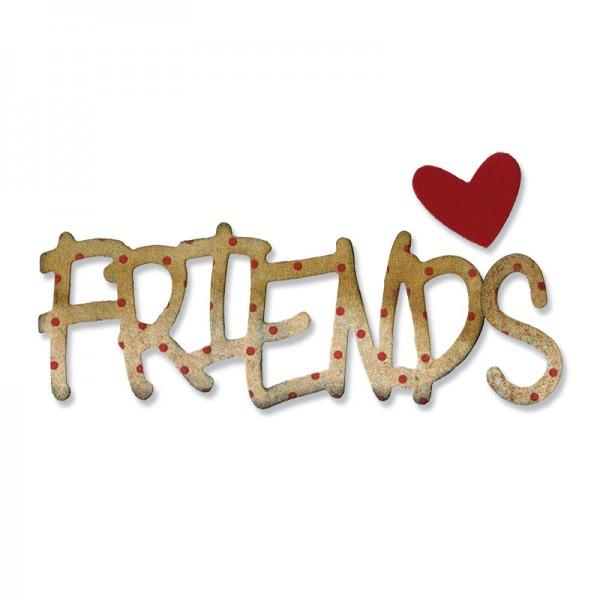 "Sizzix Stanzform Sizzlits medium "" Friends "" / Phrase Friends 658361"