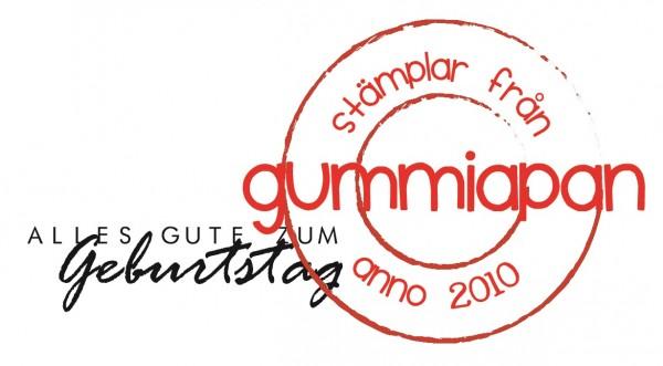 Gummiapan Stempelgummi ' Alles Gute zum Geburtstag ' 19090110