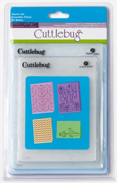 Cutttlebug Prägefolder-Set 4-er Starterset 2001217