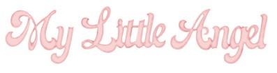 """Bosskut Stanzform Worte """" My Littel Angel """" / my little angel 0814"""