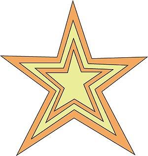 Cuttlebug Stanzform 1-er MEDIUM Sterne / concentric stars 37-1228