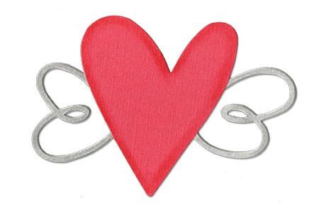 BIGZ Herz u. Flügel # 2 / heart w/wings # 2 656 770