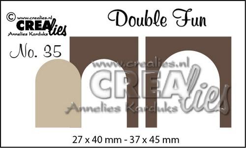 Crealies Stanzform Double Fun Hundehütten-Türen / Doghouse Doors Nr. 35 CLDF35