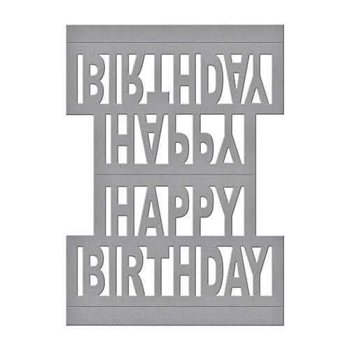 Spellbinders Stanz-u. Prägeform Happy Birthday Pop Up S4-717