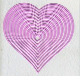 Nellie Stanz- u. Prägeform Multi Frame Straight Heart MFD060 (