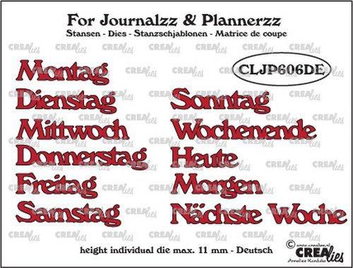 Crealies Stanzform Wochentage in Deutsch CLJP606DE