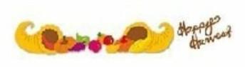 Ellison Design Stanzform Border Extended Cuts Happy Harvest / phrase happy harvest & cornucopias 231
