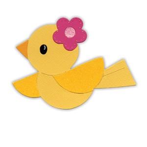 Sizzix Stanzform Originals LARGE Hello Kitty Vögelchen / bird 655788