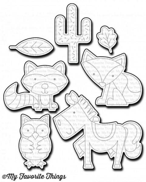 Dienamics Stanzform Fuchs, Waschbär, Pferd, Eule u. Kaktus / Critter Clan MFT-1037