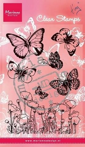 Marianne D Clear Stamps Schmetterlinge u. Mohnblumen CS0927