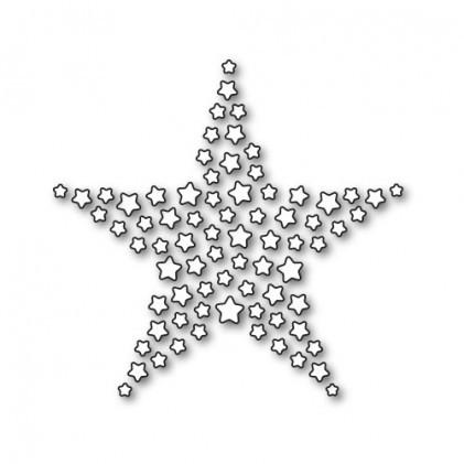 Karten-Kunst Stanzform Sterne in Sternform / Star of Stars KK-D048