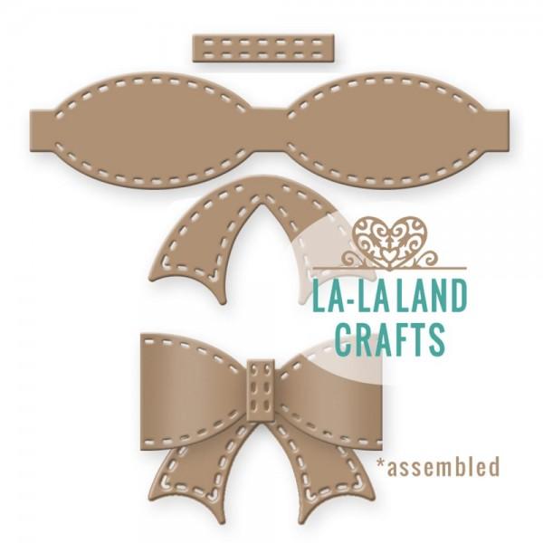 La-La Land Crafts Stanzform Schleife mit Nähnaht / Stitched Bow 8264