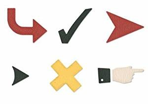 Quickutz Stanzform Hinweischilder Set / checkmark die set QKDS-13