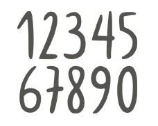Rayher Stanzform Freehand Zahlen 2,3 cm 60-759-000
