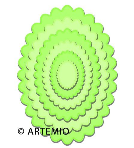 Artemio Happycut Stanz-u. Prägeformen Ovale gewellt 18044002