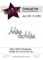 Kulricke Stanzform ' Mr & Mrs
