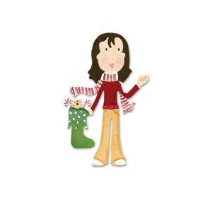 Sizzlits medium Avery mit Weihnachtsstrumpf / Avery 655 603