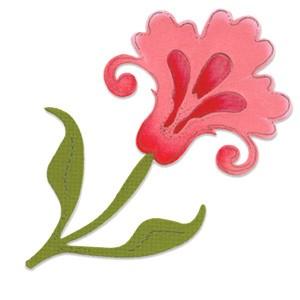 Sizzix Stanzform BIGZ Blume mit Blätter u.Stengel/flower w/leaves & stem 655645