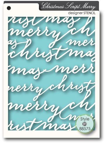 Memory Box Stencil Script Merry 88575