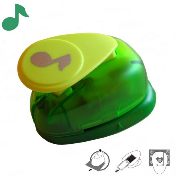 Motivstanzer klein Musik-Note VIHCP153 ( grün )