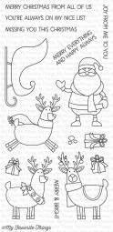 My Favorite Things Clear Stamps Nikolaus, Schlitten u. Rentiere / Merry Everything CS-151