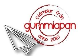 Gummiapan Stanzform Papier-Flieger / Pappersplan D180861