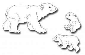 Frantic Stampers Stanzform Eisbär-Familie / Polar Bear and Cubs FRA-DIE-10036