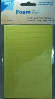 Klebepads schwarz 5 x 5 mm, Dicke 0,5 mm 6500-0050