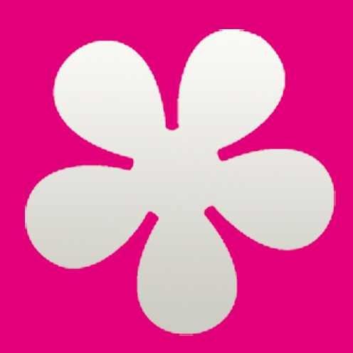 Efco Motivstanzer S Retro Blume 1790286 ( rosa )