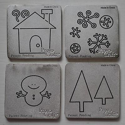 Cuttlebug Stanzform 4-er Set KLEIN Winter / winter 37-1223