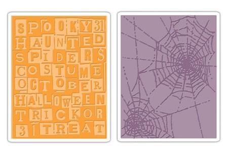 Sizzix Prägefolderset Halloween Words & Cobwebs 656942