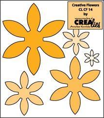 Crealies Creative Flowers # 14 (okker ) CLCF-14