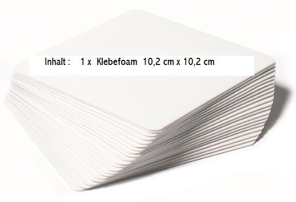Klebefoam ( 1 Blatt ) 9,7 cm x 9,7 cm