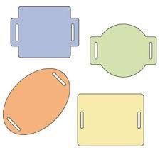 Cuttlebug Stanzform 4-er Set KLEIN Spangen / sliders 37-1215