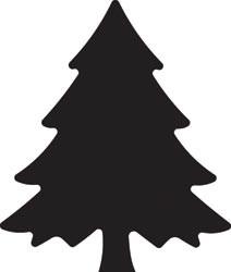 EK Success Slim-Motivstanzer Weihnachtsbaum / Christmas tree 54-30010