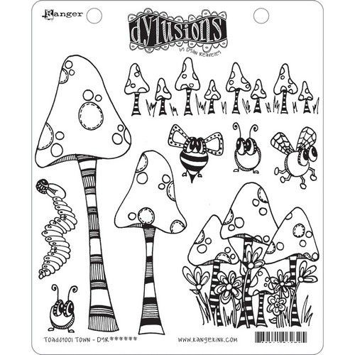 Ranger Dylusions Cling Stempelset Pilze / Toadstool Town DYR63254