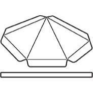 Savvystamps Stanzform Schirmchen 3 - D / Umbrella 10022