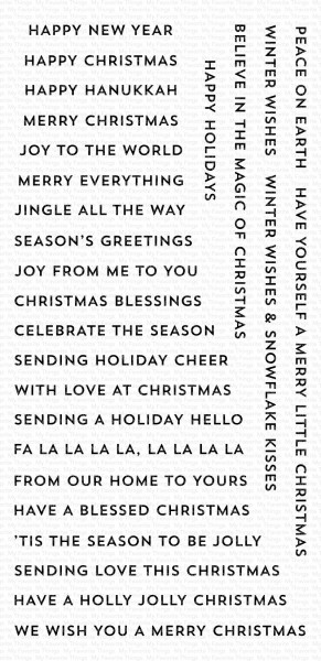My Favorite Things Clearstempel Bitty Holiday Wishes CS-417