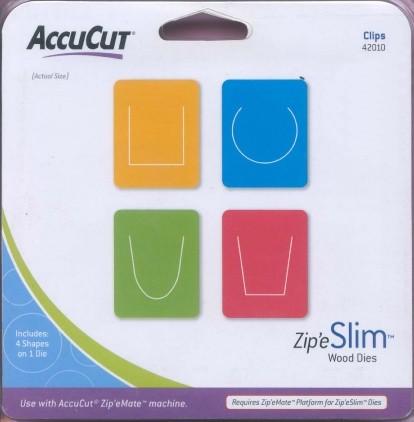 AccuCut Zip' e Slim Stanzform Clips / Clips 42010