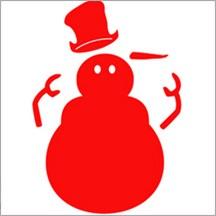 Allstar Schneemann u. Hut / snowman & hat A 10179