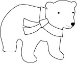 Memory Box Stempel Eisbär stehend mit Schal/Wesley Bear D1832