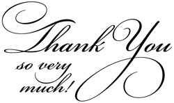 "Stempel "" Thank you so very much ! "" 4175F"