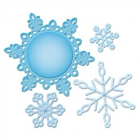 Spellbinders Stanz-u. Prägeform Snowflake Pendant 2012 S5-117 / 4292120