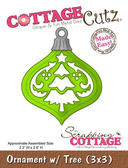 CottageCutz Ornament mit Baum / ornament w/tree SC CC3x3-083