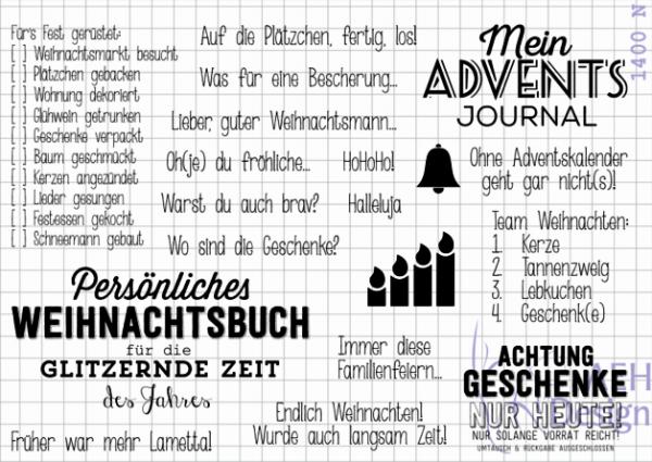 AEH Design Stempelset Adventsjournal 1400 N