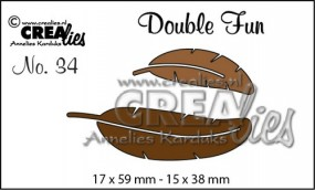 Crealies Stanzform Double Fun Federn / Feathers Nr. 34 CLDF34