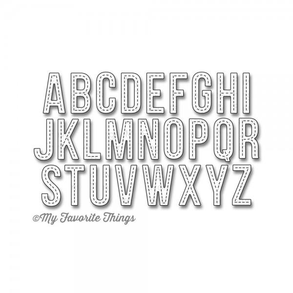Dienamics Stanzform Alphabet mit Nähnaht / Stitched Alphabet MFT-816