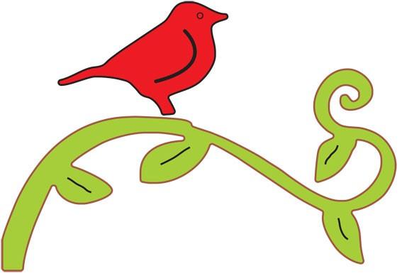DD Vogel auf Ast 2 / bird on a branch 2 A168