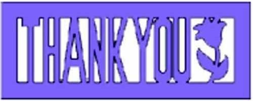 "Silhouetten / Präge-u. Schneideaschablone "" Thank you"" ( lila )"