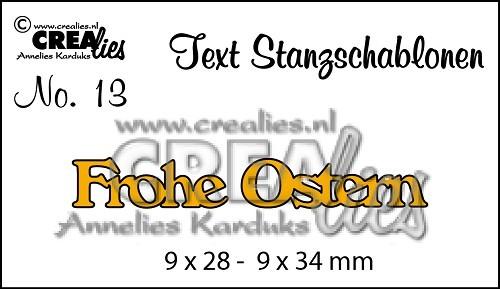 Crealies Stanzform Worte ' Frohe Ostern ' CLTSS13